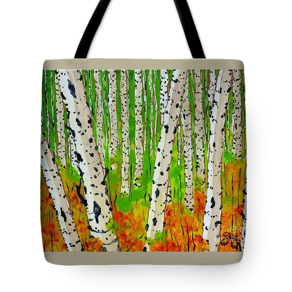A Walk Though The Trees Tote Bag by Jackie Carpenter