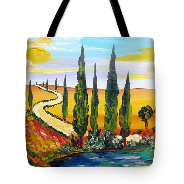 A Warm Day Under The Tuscan Sun Tote Bag