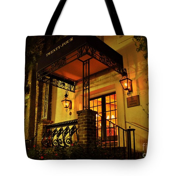 Tote Bag featuring the photograph A Warm Summer Night In Charleston by Kathy Baccari
