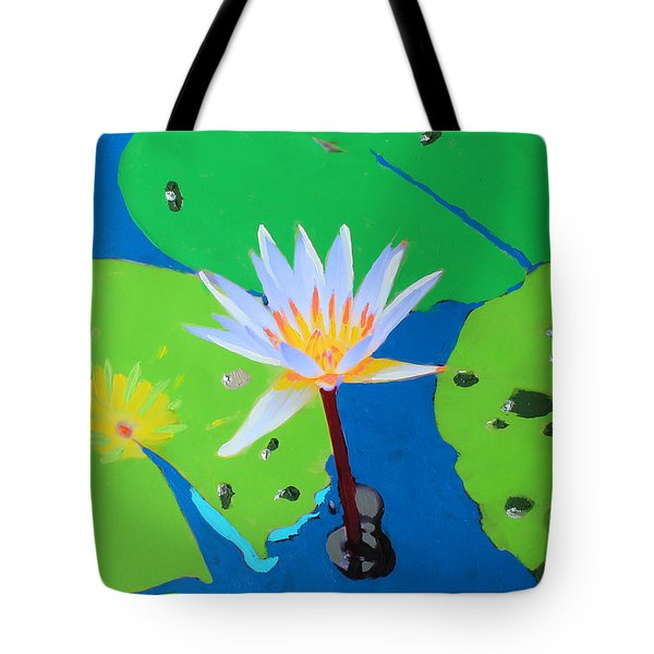 A Water Lily In Its Pad Tote Bag
