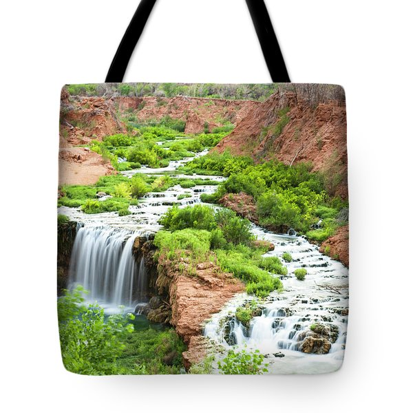 A Waterfall In The Grand Canyon Tote Bag