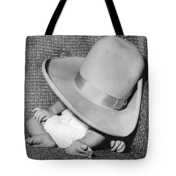 A Wee Weary Cowpoke Tote Bag by Underwood Archives