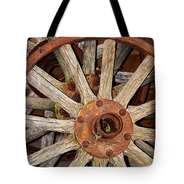 A Wheel In A Wheel Tote Bag by Phyllis Denton