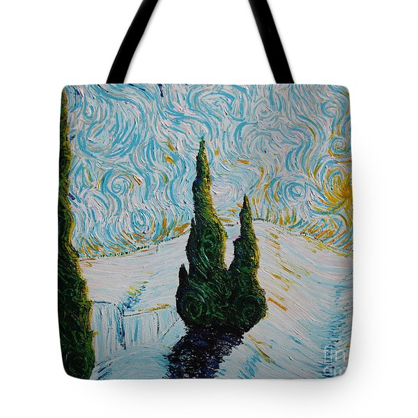 A White Day Tote Bag by Stefan Duncan