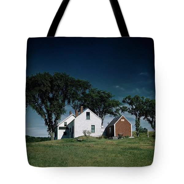 A White House In The Countryside Tote Bag