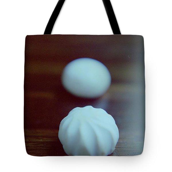 A White Mushroom Tote Bag