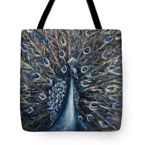 A White Peacock Tote Bag
