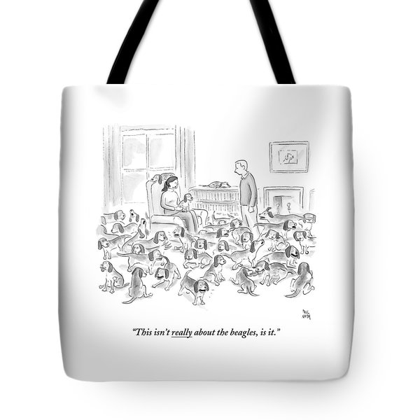 A Wife Surrounded By Beagles Addresses Tote Bag