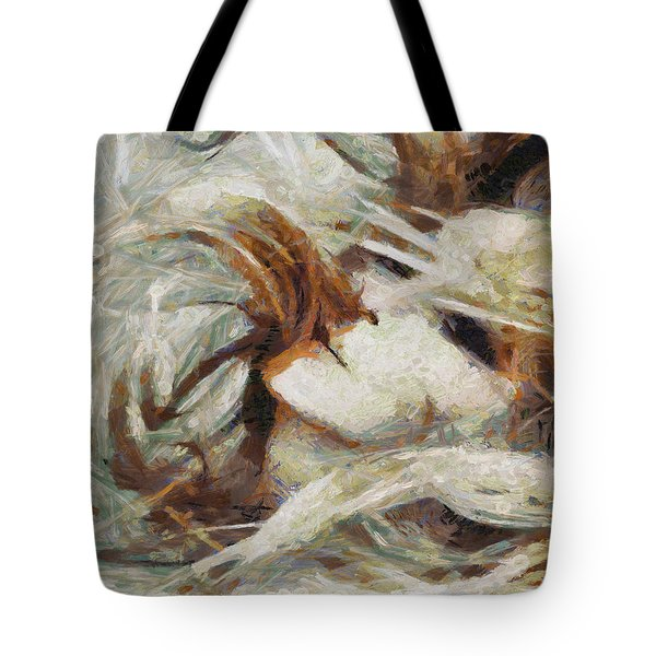 Tote Bag featuring the painting A Wild Dance by Joe Misrasi