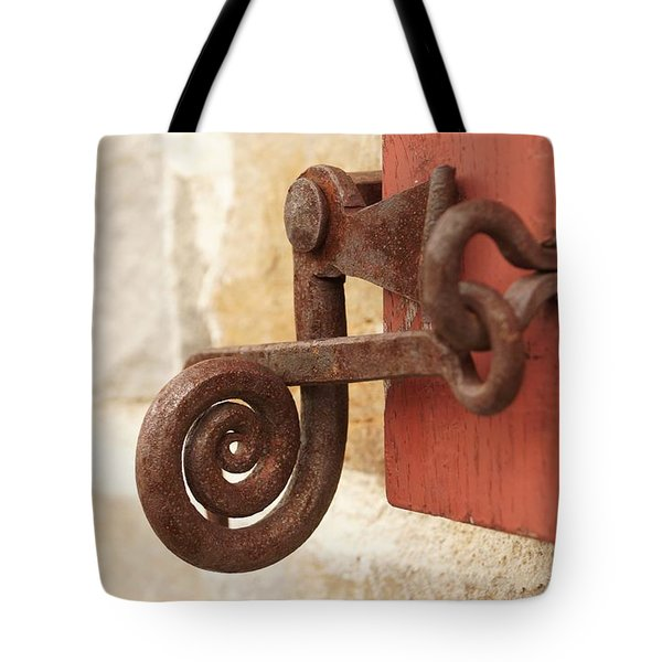A Window Latch Tote Bag