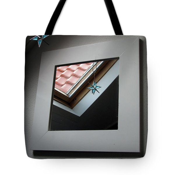 Tote Bag featuring the photograph A Window To Parallel World by Ausra Huntington nee Paulauskaite