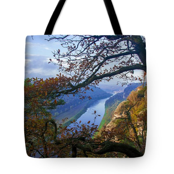 A Window To The Elbe In The Saxon Switzerland Tote Bag