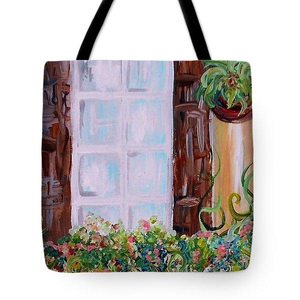 A Window View Tote Bag by Eloise Schneider