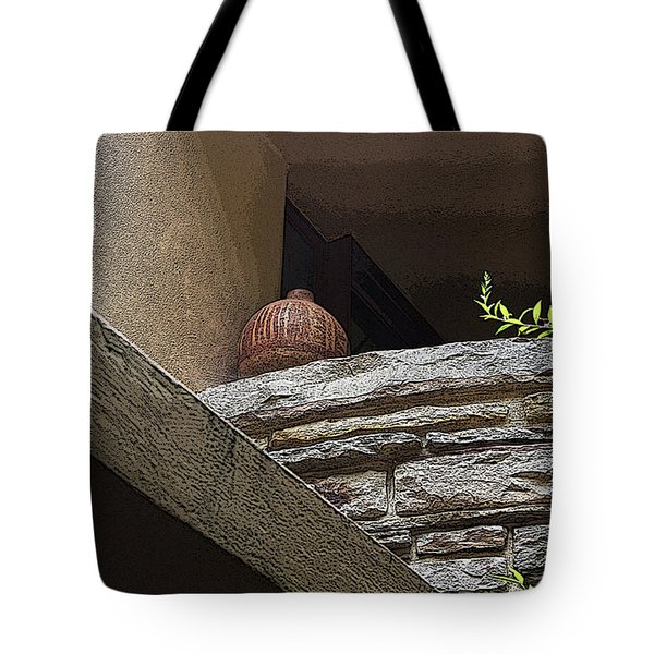 A Wine Jug Tote Bag by Yvonne Wright