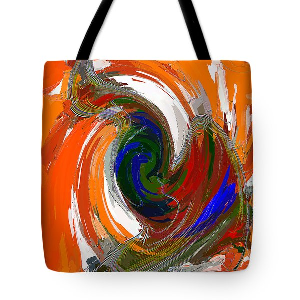 Tote Bag featuring the painting A Wing And A Prayer by Roy Erickson