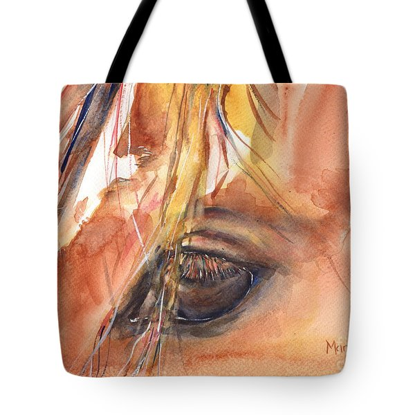Horse Eye Painting A Wink Of The Eye Tote Bag