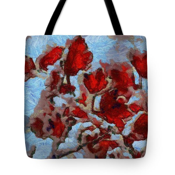 A Winter Eden Tote Bag by Dan Sproul