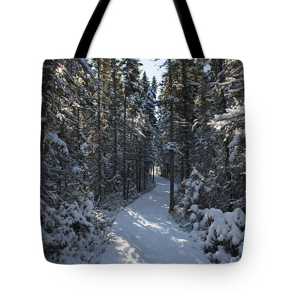A Winter Poem.. Tote Bag by Nina Stavlund
