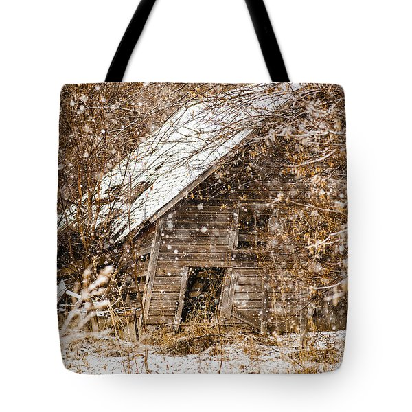 A Winter Shed Tote Bag