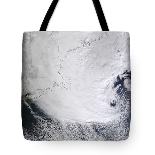 A Winter Storm Over Eastern New England Tote Bag by Stocktrek Images