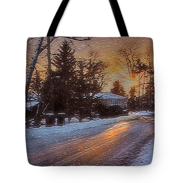 A Winter Sunset Tote Bag by Mikki Cucuzzo