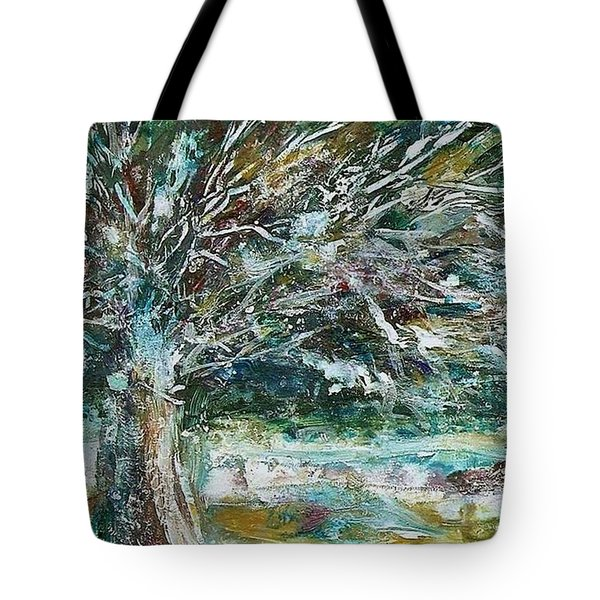 A Winter Tree Tote Bag by Mary Wolf