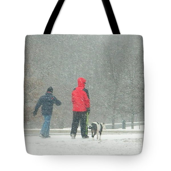 A Winter Walk In The Park - Silver Spring Md Tote Bag by Emmy Marie Vickers