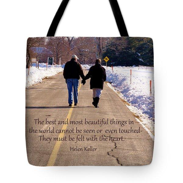 A Winter Walk/inspirational Tote Bag