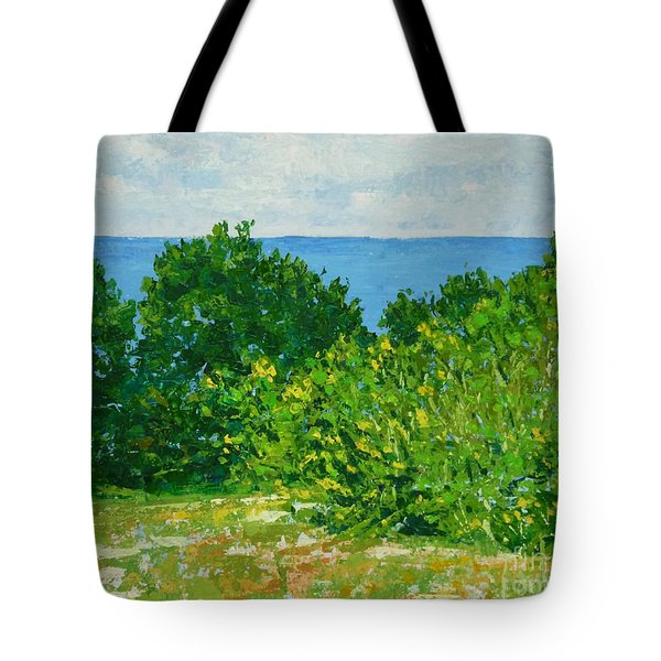 A Winter's Day At The Beach Tote Bag