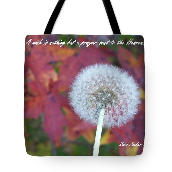A Wish For You Tote Bag by Robin Coaker