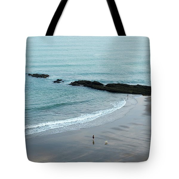 A Woman Goes For A Morning Walk Tote Bag