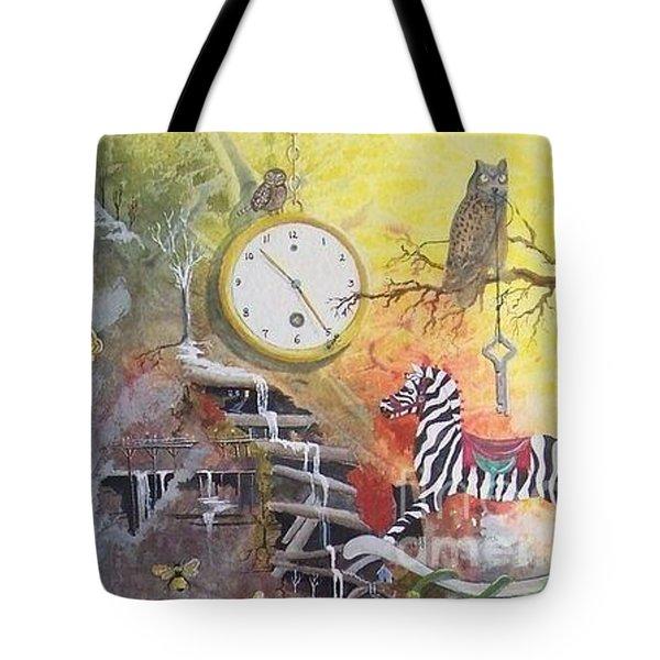 A Wonderland Scene Tote Bag by Jackie Mueller-Jones