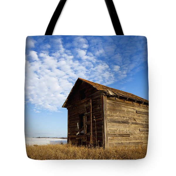 A Wooden Shed Stands Alone Tote Bag by Steve Nagy