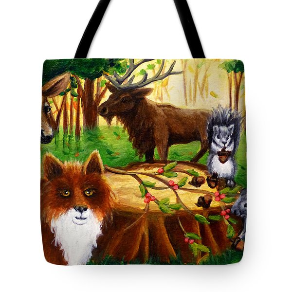 A Woodland Thanksgiving Tote Bag