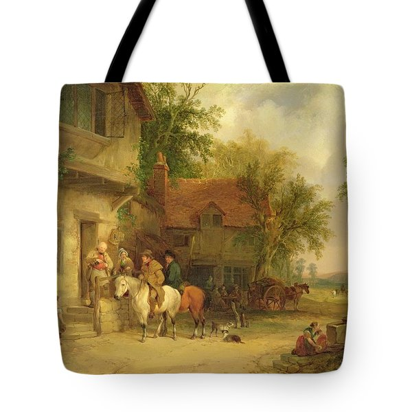 A Woodside Inn, 1841 Tote Bag by William Snr. Shayer