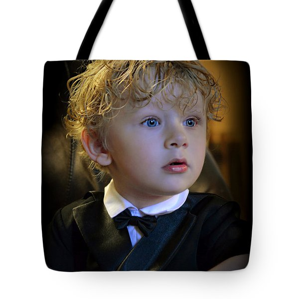 Tote Bag featuring the photograph A Young Gentleman by Ally  White