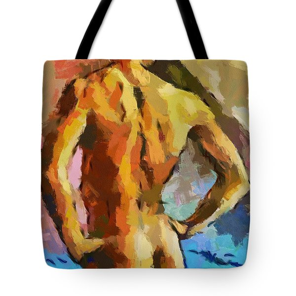 A Young Man Tote Bag