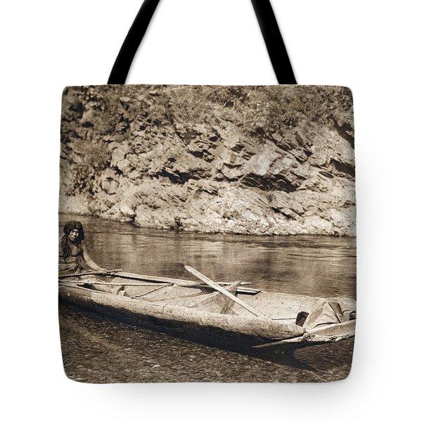 A Yurok In His Dugout Canoe Tote Bag