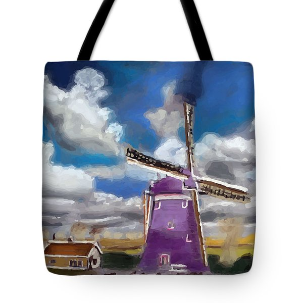 A20090813--dutch Wind Mill Tote Bag