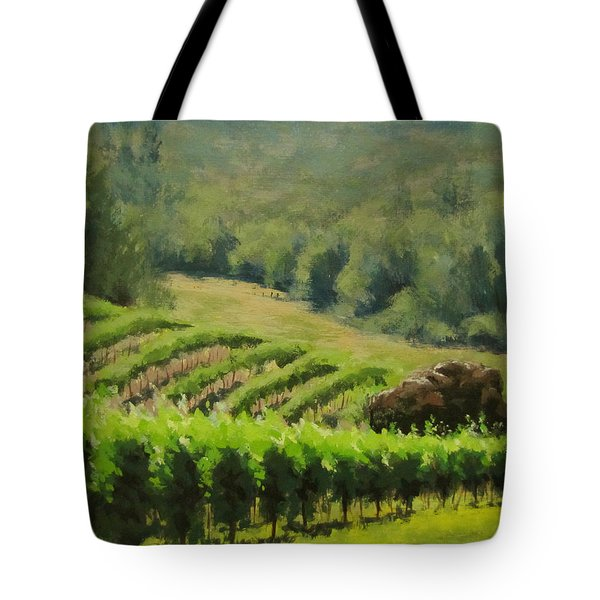 Abacela Vineyard Tote Bag by Karen Ilari