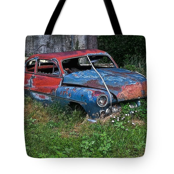 Abandoned 1950 Mercury Monteray Buick Tote Bag