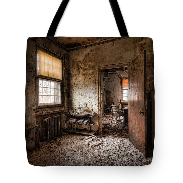 Abandoned Asylum - Haunting Images - What Once Was Tote Bag
