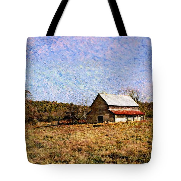 Tote Bag featuring the photograph Abandoned Barn In North Georgia by Vizual Studio