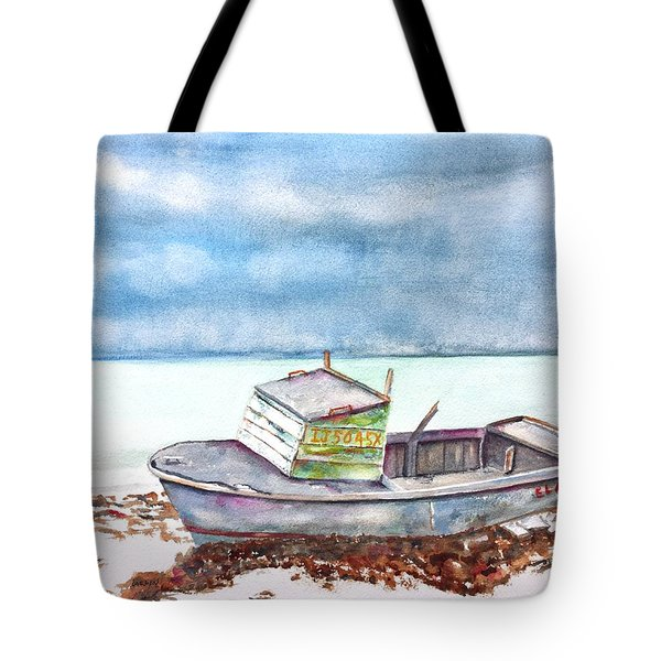 Abandoned Beached Wood Boat Tote Bag