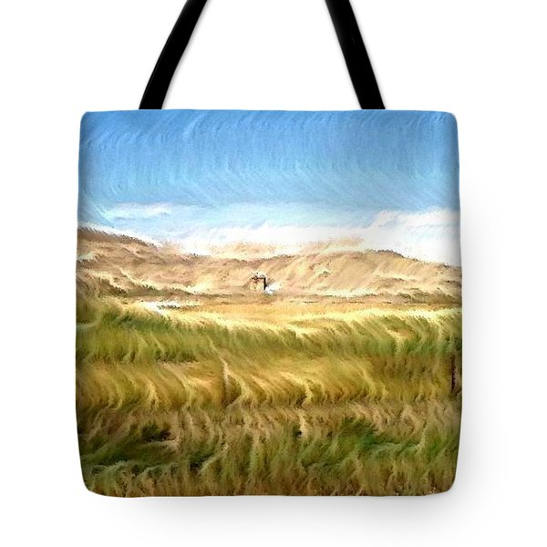 Tote Bag featuring the digital art Abandoned Blockhouse by Aliceann Carlton