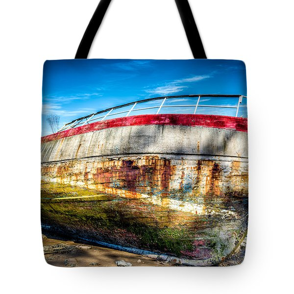 Abandoned Boat Tote Bag by Adrian Evans