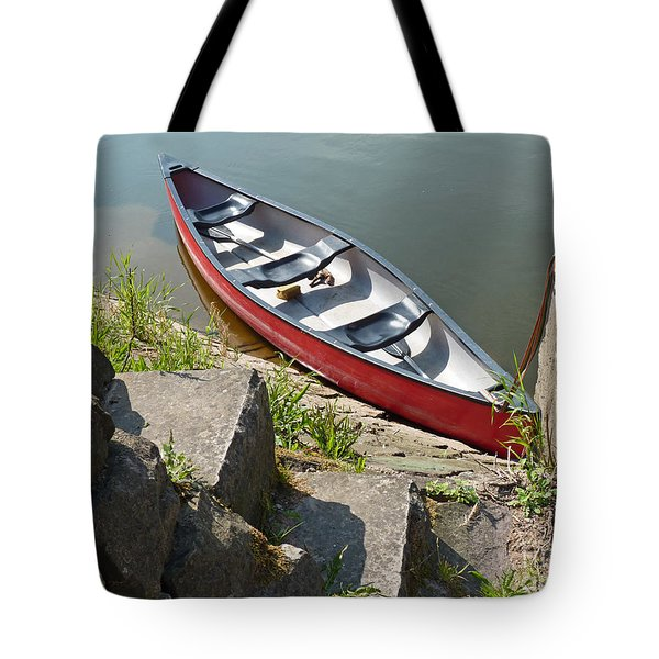 Abandoned Boat At The Quay Tote Bag