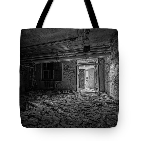 Abandoned Bw Tote Bag
