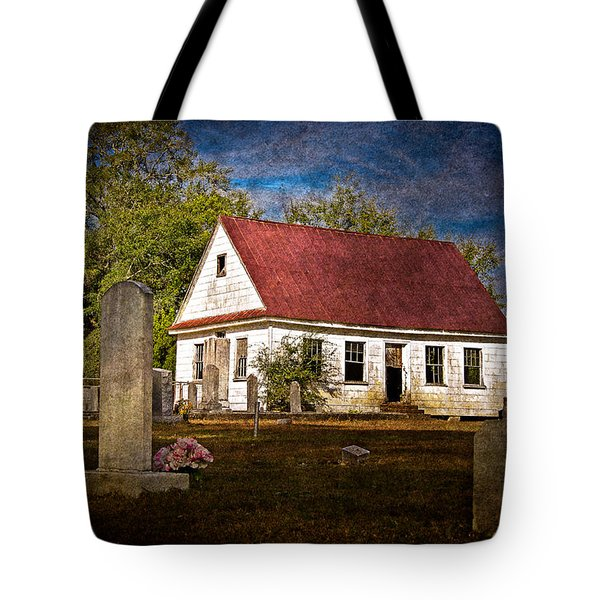 Abandoned Church And Graves Tote Bag