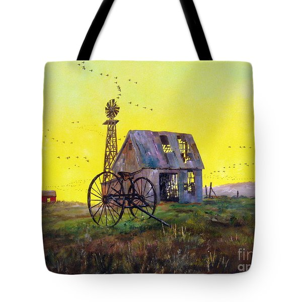 Abandoned  Farm Tote Bag by Lee Piper